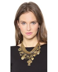 Erickson Beamon - Metallic Chain Charm Necklace - Gold - Lyst