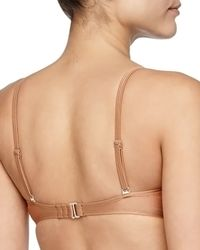 6 Shore Road By Pooja - Metallic Lace-inset Bandeau Swim Top - Lyst