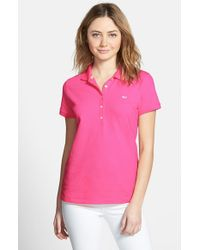 Vineyard Vines | Red Vineyard 'shoreline' Vines Short Sleeve Polo | Lyst
