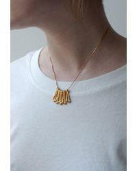 Fraser Hamilton - Metallic Hand Necklace Gold - Lyst