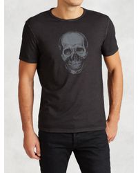 John Varvatos | Black Ghost Skull Graphic Tee for Men | Lyst