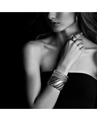 David Yurman | Blue Midnight Mélange Cuff Bracelet With Diamonds And Gold | Lyst