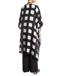 Eskandar - Black Square Shibori Silk Coat - Lyst