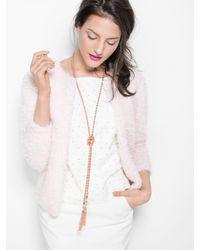 BaubleBar - Pink Iced Lariat Pendant-rose - Lyst