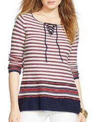 Ralph Lauren - Multicolor Lauren Stripe Sweater - Lyst