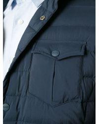 Herno | Blue Padded Jacket for Men | Lyst