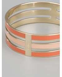 Chloé - Yellow Bi-colour Stacked Bangle - Lyst