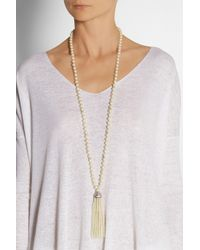 Kenneth Jay Lane | White Faux Pearl and Swarovski Crystal Necklace | Lyst