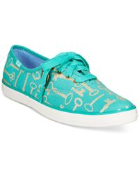 Keds | Blue Women's Limited Edition Taylor Swift Champion Key Print Sneakers | Lyst
