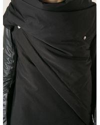Rick Owens - Black Asymmetric Wrap Gilet for Men - Lyst