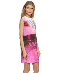 McQ Box Dress - Haze Pink Print