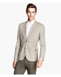 H&M - Natural Cotton Blazer for Men - Lyst