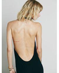 Free People - Black Sexy Back Cindy Dress - Lyst