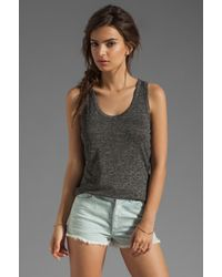 Rag & Bone - Gray Nicole Split-back Stretch-jersey Tank - Lyst