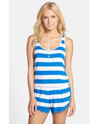 Honeydew Intimates - Blue 'all America' Lace Trim Sleep Romper - Lyst