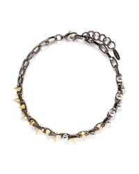 Joomi Lim | Metallic Spike Bead Chain Necklace | Lyst