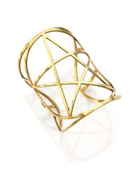 Pamela Love | Metallic Mini Pentagram Cuff Bracelet | Lyst