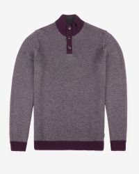 Ted Baker - Purple Stitch Detail Funnel Neck Top for Men - Lyst