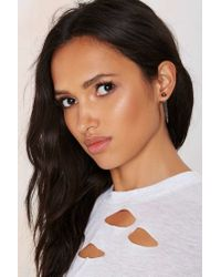 Nasty Gal | Metallic Buffy Jacket Earrings | Lyst