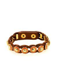 Henri Bendel - Metallic Rivet Wrap Bracelet - Lyst