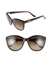Ferragamo - Brown 'vara' 57mm Sunglasses - Lyst
