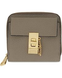 Chloé | Gray Drew Square Zipped Leather Wallet | Lyst