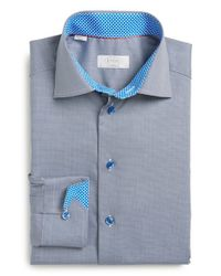 Eton of Sweden - Blue Contemporary Fit Dress Shirt for Men - Lyst