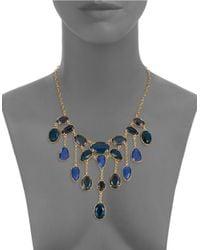 Lauren by Ralph Lauren   Blue Stone Collar Necklace   Lyst