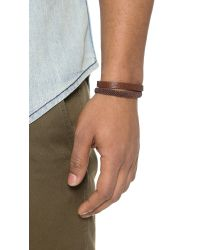 Caputo & Co. - Brown Hand Knotted Double Wrap Bracelet for Men - Lyst