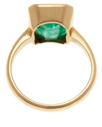 Kojis | Green Gold Emerald Single Stone Ring | Lyst