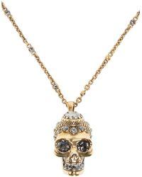 Alexander McQueen | Metallic Gold Victorian Skull Pendant | Lyst