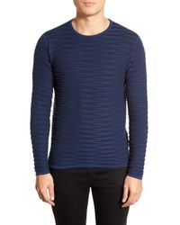 Zachary Prell | Blue 'st. Gallo' Ribbed Crewneck Sweater for Men | Lyst