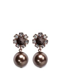 Joomi Lim | Black Spike Pearl Earrings | Lyst