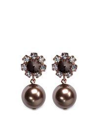 Joomi Lim - Black Spike Pearl Earrings - Lyst