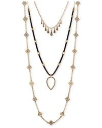 Lucky Brand | Metallic Three-layer Necklace | Lyst