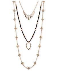 Lucky Brand | Metallic Three-layer Necklace | Lyst