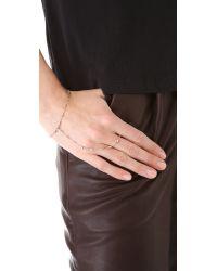 Jacquie Aiche - Metallic Ja Vintage Chain Finger Bracelet - Rose Gold - Lyst