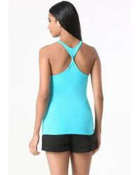 Bebe | Blue The New Racerback Tank | Lyst