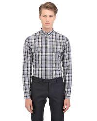 Dior Homme - Black Checked Cotton Poplin Shirt for Men - Lyst