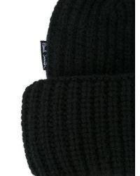 Paul Smith - Black Knitted Bobble Hat for Men - Lyst