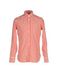 Guglielminotti - Orange Shirt for Men - Lyst