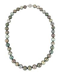 Belpearl | Tahitian Round Multicolor Pearl Necklace | Lyst