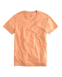 J.Crew | Orange Slim Broken-in V-neck T-shirt for Men | Lyst