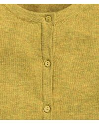 H&M - Yellow Cotton Cardigan - Lyst