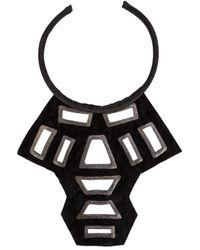 Urban Zen - Black ' Shield' Necklace - Lyst