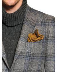 Boglioli - Orange Cotton Blend Jacquard Pocket Square for Men - Lyst