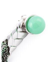 Eshvi | Green 'Braid 22' Earrings | Lyst