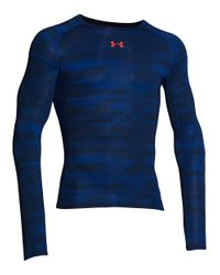 Under Armour | Blue Heatgear Armor Printed Tee for Men | Lyst