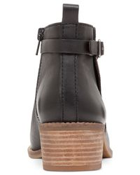 Lucky Brand | Black Women's Harpiee Block Heel Ankle Booties | Lyst