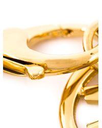 Moschino - Metallic Symbol Charm Bracelet - Lyst
